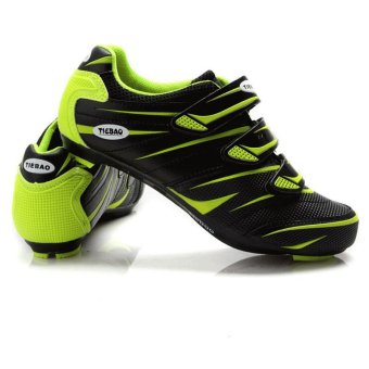 Tiebao Cycling Shoes Road Bike Bicycle Shoes For Look SPD-SL SystemBlack Green