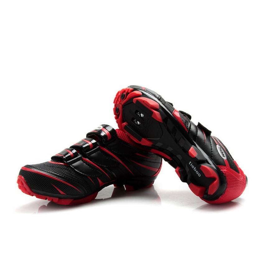 ... Tiebao MTB Cycling Shoes For Shimano SPD System Bike Bicycle ShoesBlack Red ...
