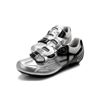 Tiebao SPD-SL System Cycling Road Bike Professional Sports LockTread Shoes Black Silver - intl