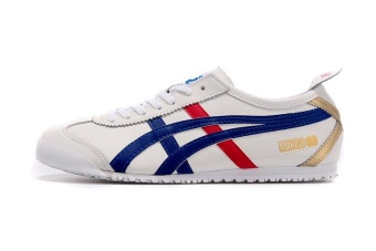 Tiger Loafer Shoes Men's Arthur Tiger Sports Shoes Running ShoesTiger MEXICO66 Shoes D507L(new White Blue Red) - intl