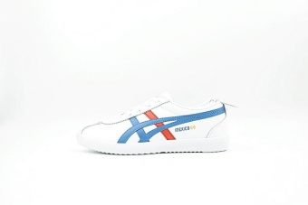 Tiger Loafer Shoes Men's Arthur Tiger Sports Shoes Tiger MEXICO66Delegation Shoes (white blue red) - intl