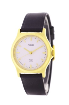 Timex Women's Black Leather Strap Watch T2Z601