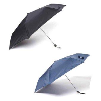 Tokio Slim Type Windproof Umbrella Set of 2 (Black/Navy Blue)