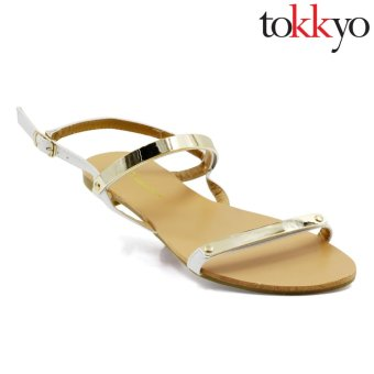 Tokkyo AZ-336/QX-6 Lauren Flat Sandals (White) Price Philippines