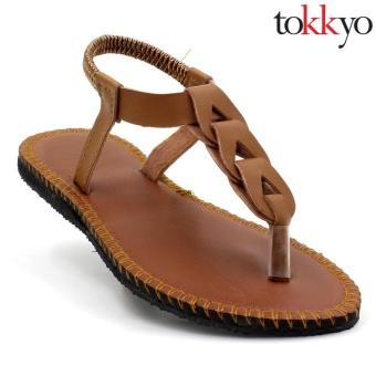 Tokkyo Shoes Women's Ember Flat Sandals (Brown) - 2