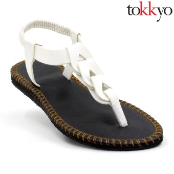 Tokkyo Shoes Women's Ember Flat Sandals (White)