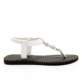 Tokkyo Shoes Women's Ember Flat Sandals (White) - 3