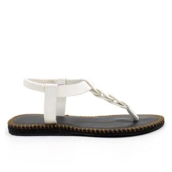 Tokkyo Shoes Women's Ember Flat Sandals (White) - 4