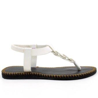 Tokkyo Shoes Women's Ember Flat Sandals (White) - 5