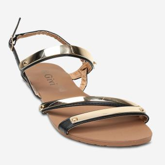 Tokkyo Shoes Women's Holly Flat Sandals (Black)