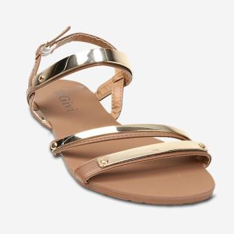 Tokkyo Shoes Women's Holly Flat Sandals (Coffee)