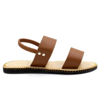 Tokkyo Shoes Women's Lucky Flat Sandals (Brown) - 5