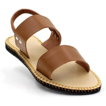 Tokkyo Shoes Women's Lucky Flat Sandals (Brown)