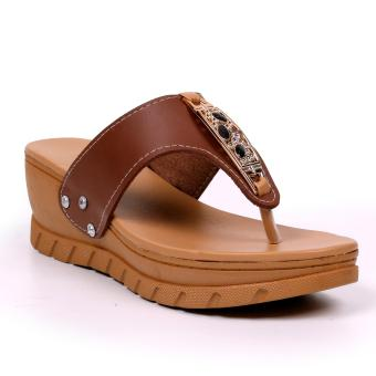 Tokkyo Shoes Women's Sheryl Flat Sandals (Brown)