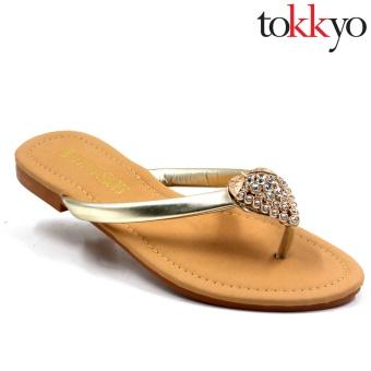 Tokkyo Shoes Women's Hermione Flat Sandals (Silver) - 4