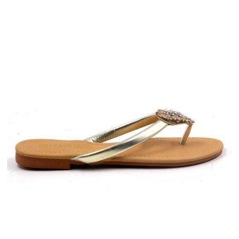 Tokkyo Shoes Women's Hermione Flat Sandals (Silver) - 5