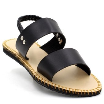 Tokkyo Shoes Women's Lucky Flat Sandals (Black)