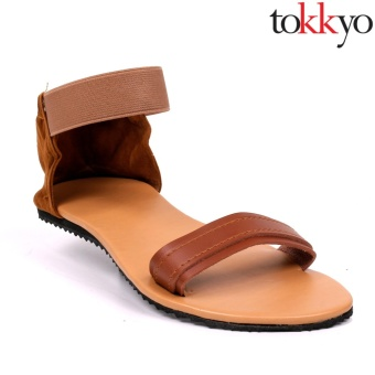 Tokkyo Shoes Women's Margo Flat Sandals (Brown)