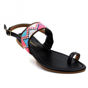 Tokkyo Shoes Women's Ramona Flat Sandals (Black)