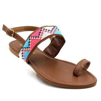 Tokkyo Shoes Women's Ramona Flat Sandals (Brown)
