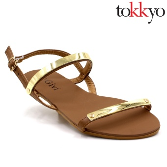 Tokkyo Women's AZ-336 Lauren Flat Sandals (Brown)