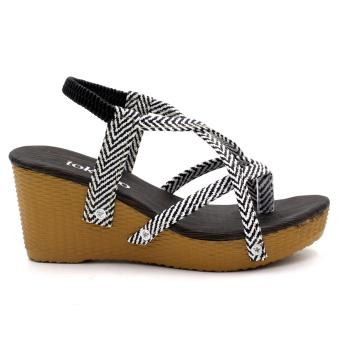 Tokkyo Women's Bora Wedge Sandals (Black) - 2