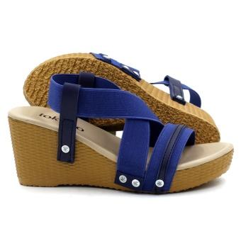 Tokkyo Women's Hyeon Wedge Sandals (Blue) - 3