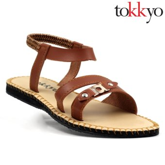 Tokkyo Women's Vicki Flat Sandals (Brown)