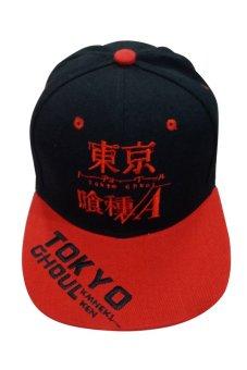 Tokyo Ghoul Root A Designed Bull Cap (Black/Red)
