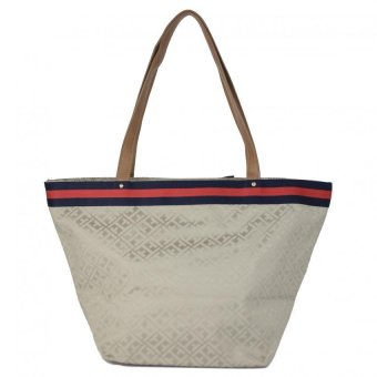 Tommy Hilfiger Bow Tote Bag (Champagne) - 3