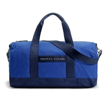 TOMMY HILFIGER CANVAS WEEKENDER BAG (BLUE)