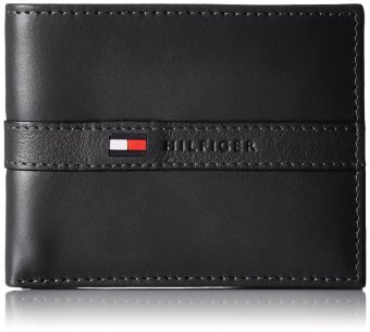Tommy Hilfiger Leather Ranger Passcase Wallet (Black)