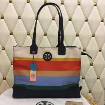 Tory Burch Ella Stripe Tote Bag Medium in Multicolor Price Philippines