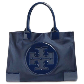 Tory Burch Ella Tote Bag Medium Navy Blue Price Philippines