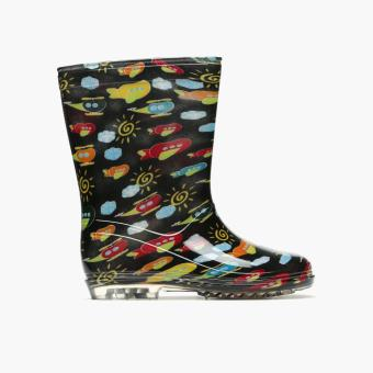 Tough Kids Boys Helicopter Rain Boots (Black)