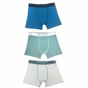 Town Shop Modern Boxer Brief Pack of 3 (3 piece random colors)