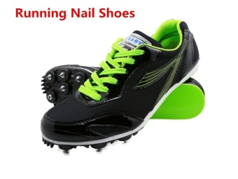 Trail Sports Running Nail Shoes for Men Spike Runing SpikesAthletics Sprint Spikes Male Female Nails Training Shoes SneakersBlack - intl