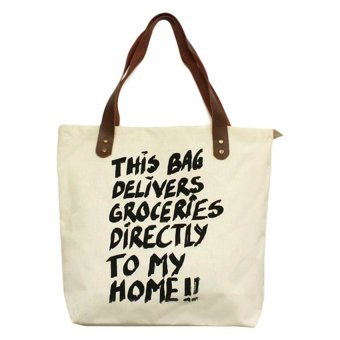Travel Manila Statement Tote Bag (Beige) - picture 2