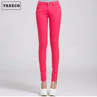 Treeco Women's Candy Skinny Jeans (Pink)