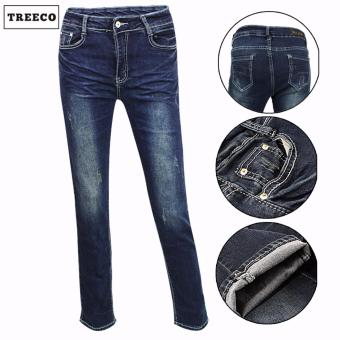 Treeco Women's Used Jeans Tattered Denim Jeans (015)