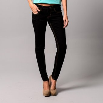 Treeco Women's Virtual Plus Black Skinny Jeans