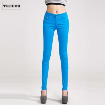 Treeco Women's Candy Skinny Jeans (Sky Blue) Price Philippines