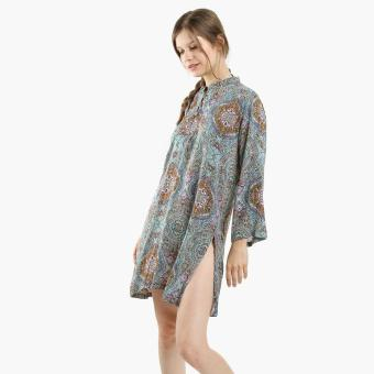 Tropiko By Kultura Ladies Paisley Tunic (Blue)