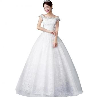 Tulle korea style lace bridal gown plus size ivory wedding dresses tulle korea style lace bridal gown plus size ivory wedding dresses junglespirit Image collections