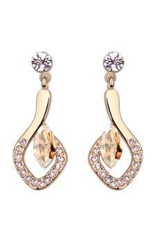 Ufengke UF-JQE186-4 Crystal Stud Earrings (Gold)
