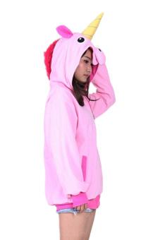 Ufosuit Animal Unicorn Hoodies Adult Hoody (Pink) - Intl - 4