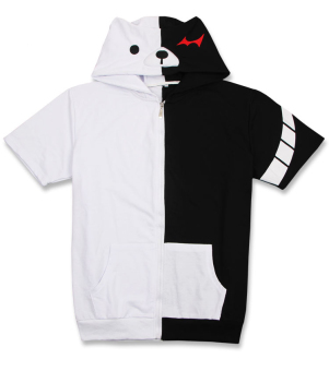 Ufosuit Anime Bear Short Sleeve Hoody T-Shirt (White/Black) - Intl