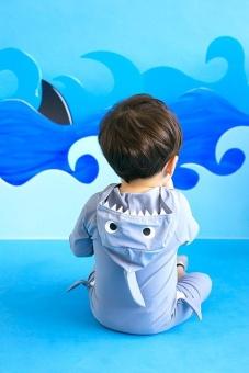 Ufosuit Kids Animal Swimsuit Unisex Onesie Swimwear Jumpsuit SharkCosplay Costume - intl - 3