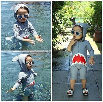 Ufosuit Kids Animal Swimsuit Unisex Onesie Swimwear Jumpsuit SharkCosplay Costume - intl - 4