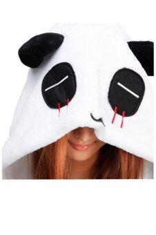 Ufosuit Red Tear Panda Adult Animal Kigurumi Onesie Black (Intl) - 4